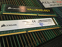Оперативна пам`ять CORSAIR DDR3 4GB PC3 10600U 1333mHz Intel/AMD