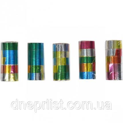 "Серпантин блестящий ""Лазер"", 1 см, 5 лент, фото 2"