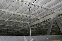 Теплоизоляция мансардного этажа методом напыления пенополиуретана (ППУ)