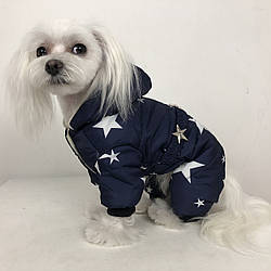 """Удобный зимний комбинезон для собак """"Звездная ночь"""""""