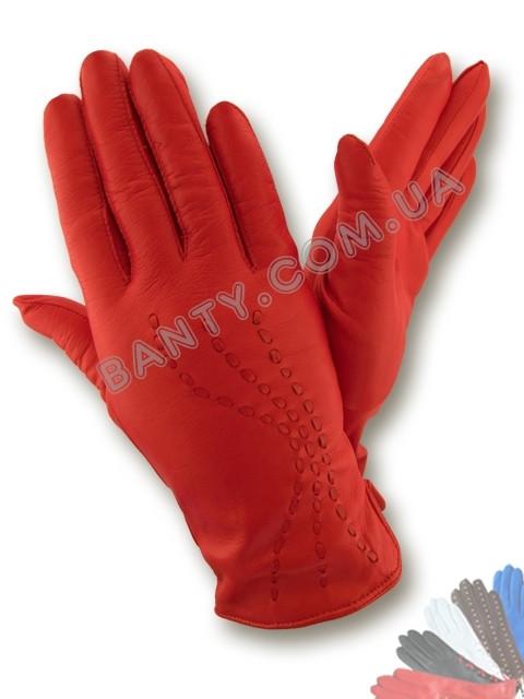 Женские перчатки на шерстяной подкладке, модель 289