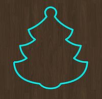 Вырубка для пряника ель елка новогодние вырубки