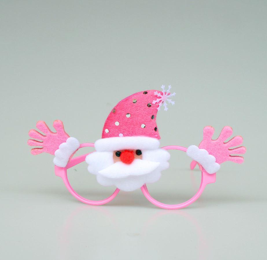 Окуляри новорічні рожеві