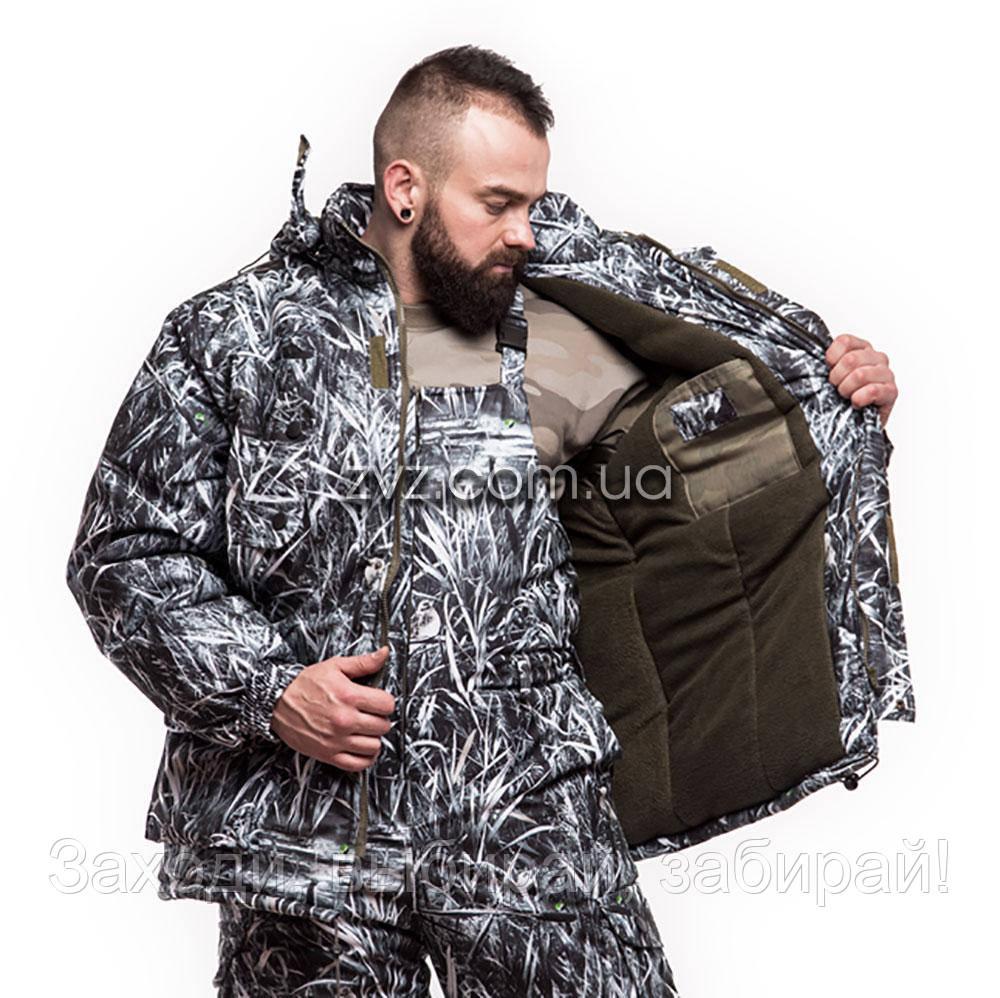 """Зимний костюм """"Отаман"""" алова, камуфляж Зимний Камыш (48-62 размеры)"""