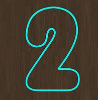 Вырубка кондитерская для пряника мастики марципана цифра 2  два