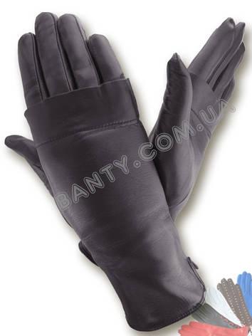 Жіночі рукавички на вовняної підкладці, модель 372, фото 2