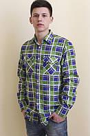 Мужская фланелевая рубашка в клетку