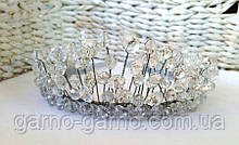 Корона хрустальная Прозрачная Тиара диадема для Снежной королевы