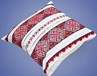 Подушка с вышивкой и мережкой