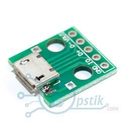 MicroUSB адаптер в DIP 5pin., 2.54 мм