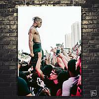 Постер XXXTentacion, рэп, рэпер. Размер 60x42см (A2). Глянцевая бумага