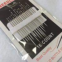 Голки для ручного шиття з вузьким вушком Needles Sharps 570-211, 16 шт
