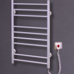 """Электрический полотенцесушитель """"Лесенка - 9"""" белый с терморегулятором 890*500*70"""