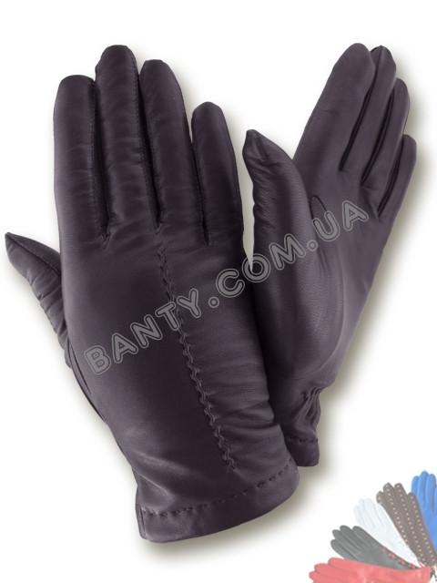 Женские перчатки на шерстяной подкладке, модель 465