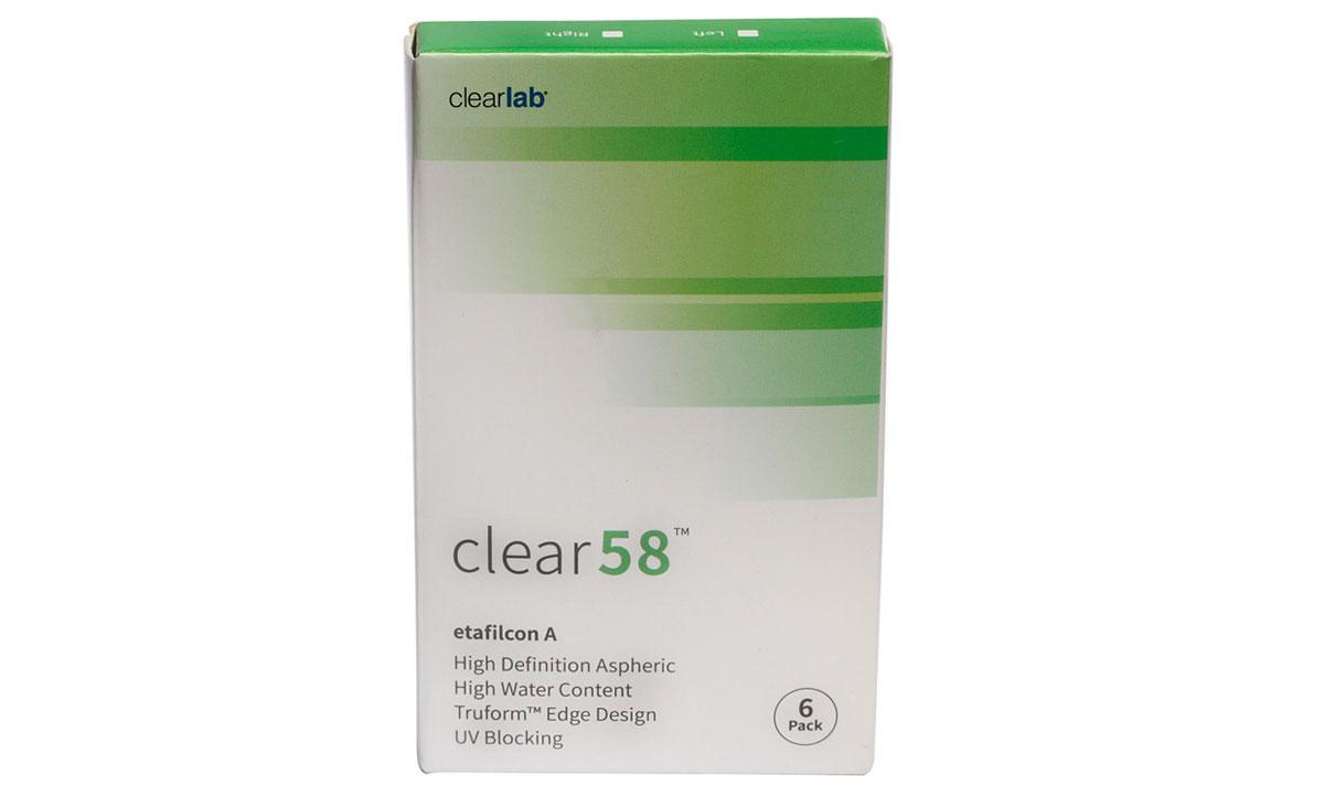 Линзы контактные clear-58