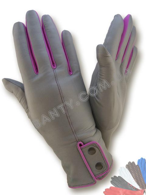 Женские перчатки на шерстяной подкладке, модель 505