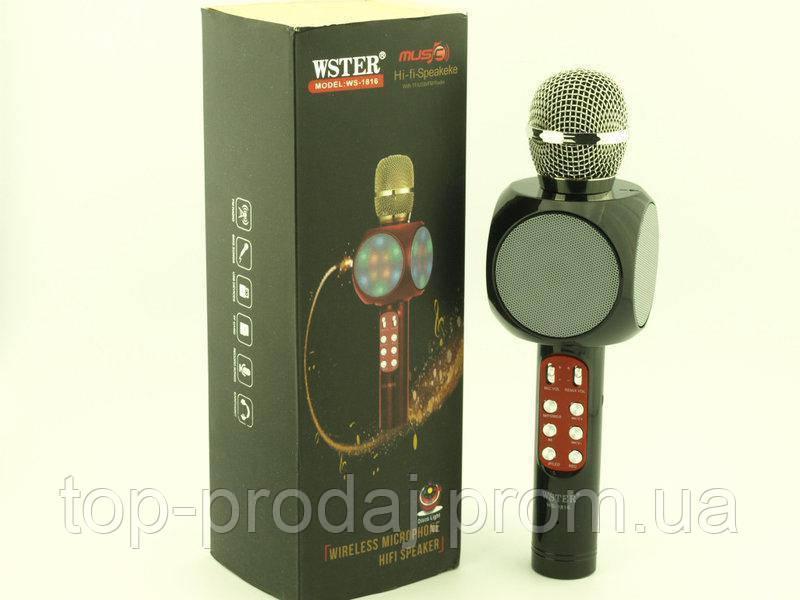 Микрофон DM Karaoke 1816+чехол, Микрофон с функцией караоке, Портативный комбо-микрофон, Беспроводной микрофон