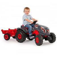 Педальный трактор Гигант с прицепом Stronger XXL (3-6 лет) Smoby 710200