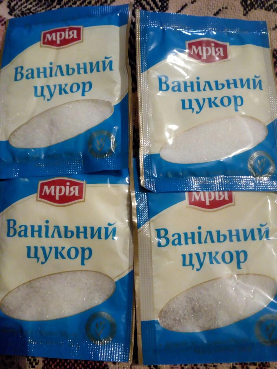 Ванільний цукор-10 грам ( 5 штук)