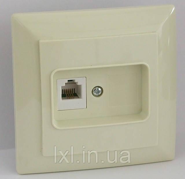 Розетка ТФ (белая, крем) LXL ULTRA