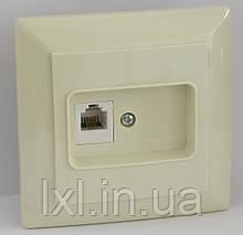 Розетка ТФ (біла, крем) LXL ULTRA