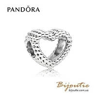 Pandora Шарм БИСЕРНОЕ СЕРДЦЕ #797516 серебро 925 Пандора оригинал