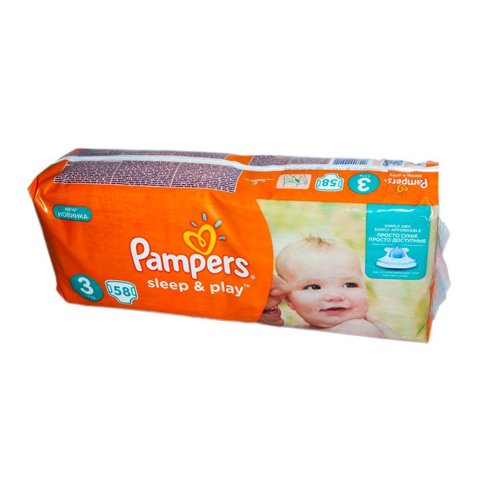 744a3b22d027 Подгузники Pampers Sleep   Play Размер 3 (Midi) 5-9 Кг, 58 ...