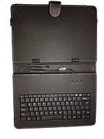 """Чехол для планшета 10"""" KC-010 c клавиатурой (micro usb) чёрный"""