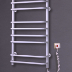 "Электрический полотенцесушитель ""Стандарт 8"" белый с терморегулятором 830*500*130"