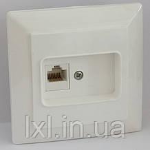 Розетка комп'ютерна (біла, крем) LXL ULTRA