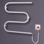 """Электрический полотенцесушитель """"Змейка-М"""" белый с терморегулятором 550*500*70"""