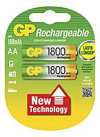 Аккумуляторная батарейка АА (пальчиковая) GP 1шт R06 1800mA 180AAHC-U2