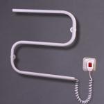"""Электрический полотенцесушитель """"Змейка-S"""" белый с терморегулятором 550*500*70"""