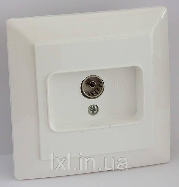 Розетка TV (біла, крем) LXL ULTRA