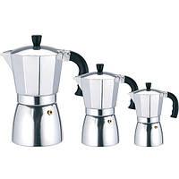 Кофеварка гейзерная алюминиевая Maestro 1667-3
