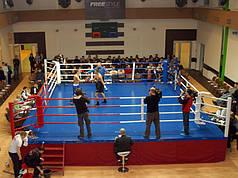 Боксерський ринг олімпійський поміст 7,8х7,8х1м. канати 6,1х6,1м.