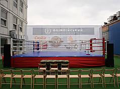 Боксерський ринг професійний поміст 7,5х7,5х1м канати 6,1х6,1м.