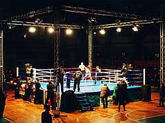 Боксерський ринг професійний поміст 5,5х5,5х0,6м. канати 4,5 х4,5 м.