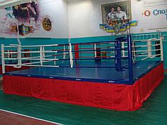 Боксерский ринг клубный помост 7х7х1 м. канаты 6х6 м.