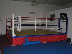 Боксерскиий ринг клубный помост 6х6х0,6м канаты 5х5м.