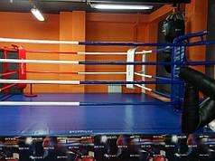 Боксерскиий ринг клубный помост 4.5х4.5х0,35м канаты 3.5х3.5м.