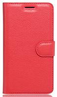 Кожаный чехол-книжка  для Lenovo Vibe C2 k10a40 красный