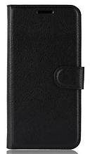 Кожаный чехол-книжка для Xiaomi Mi A2 Lite/ Redmi 6 Pro черный
