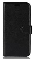 Кожаный чехол-книжка для Xiaomi Mi 8 черный