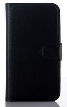 Кожаный чехол-книжка для Samsung Galaxy J1 Ace J110 черный