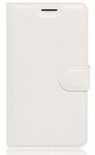 Кожаный чехол-книжка  для Lenovo Vibe C2 k10a40 белый