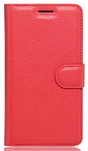 Кожаный чехол-книжка для Sony Xperia L2 красный