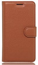 Кожаный чехол-книжка для Sony Xperia L1 G3312 G3313 коричневый
