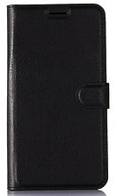 Кожаный чехол-книжка для Doogee X7 / X7 Pro черный