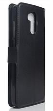 Кожаный чехол-книжка для Doogee Y6 черный, фото 2